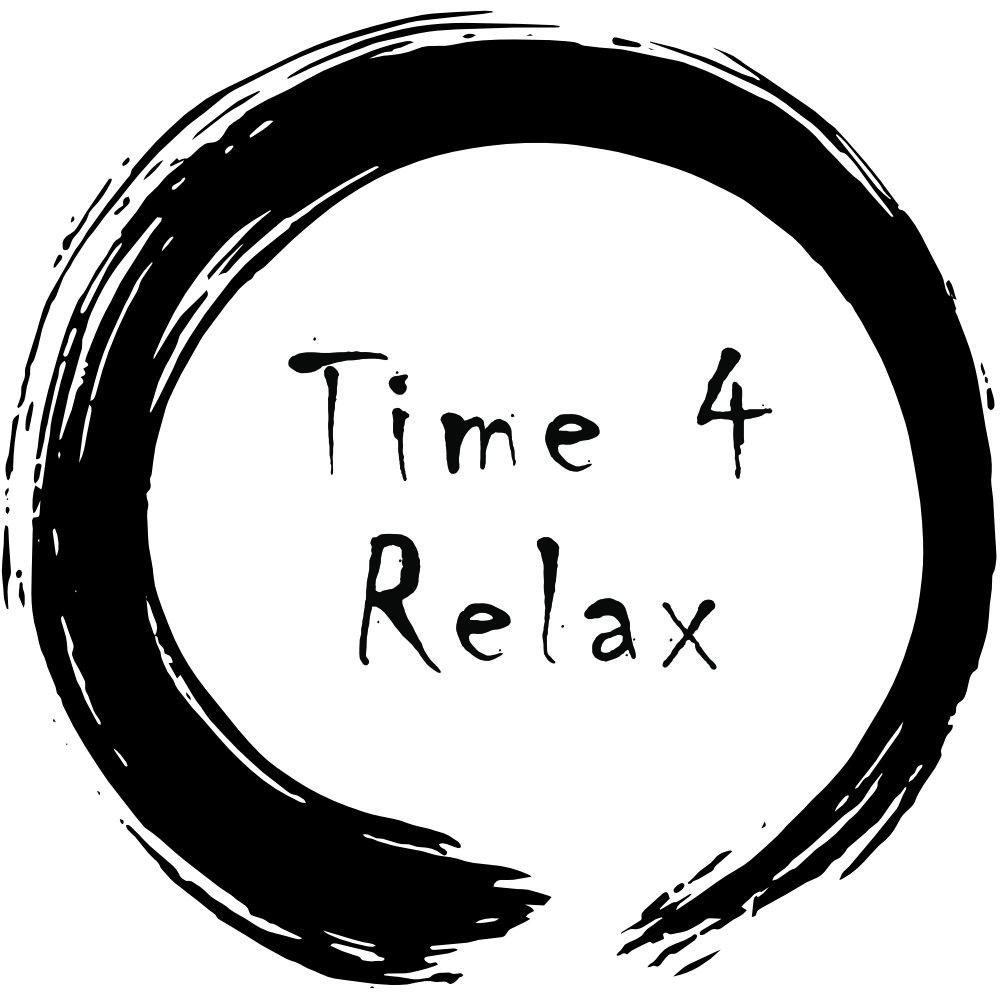 Logo Massagepraxis Time4Relax mit Zenkreis